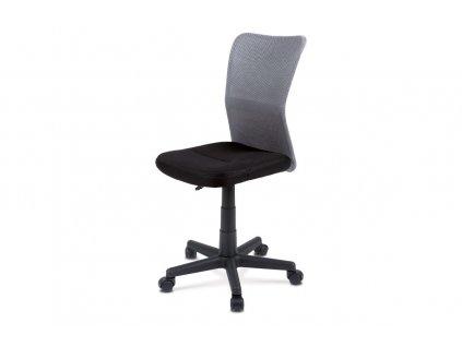 Kancelářská židle šedočerná / plast