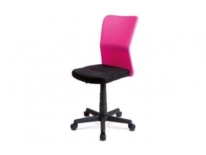 Kancelářská židle růžová látka / plast