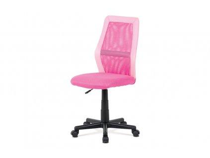 Kancelářská židle růžová síťovina / plast