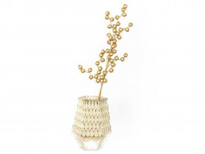 Sada 2 ks dekorací: Váza se zlatou kytkou