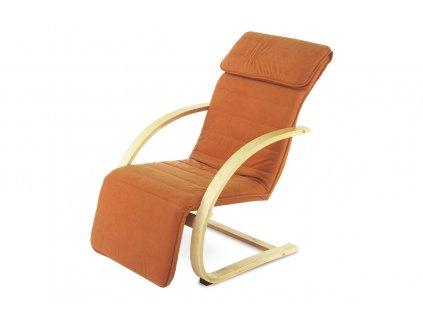 Relaxační křeslo terracottové  / masiv