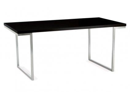 Jídelní stůl černý 180 x 90 cm