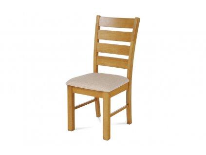 Jídelní židle dub / béžový potah