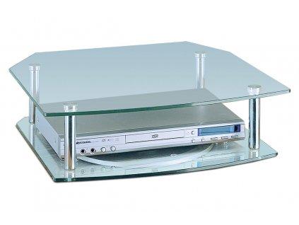 TV stolek skleněný