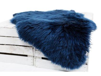 Ovčí kůže královsky modrá 90-100cm