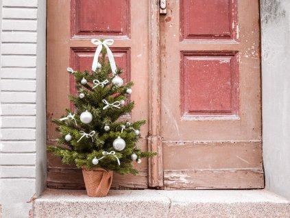 Vánoční stromek bílý 75 cm