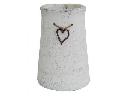 Váza betonová se srdíčkem 20,5 cm