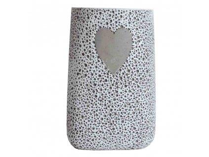 Váza betonová se srdíčkem 24 cm