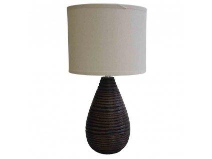 Stolní polyresinová lampa hnědá 36,5 cm