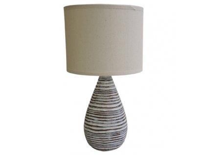 Stolní polyresinová lampa béžová 36,5 cm