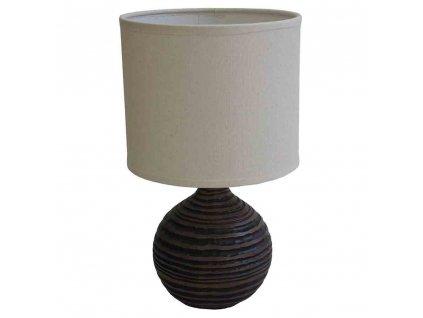 Stolní polyresinová lampa hnědá 30,5 cm