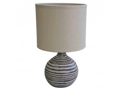 Stolní polyresinová lampa béžová 30,5 cm