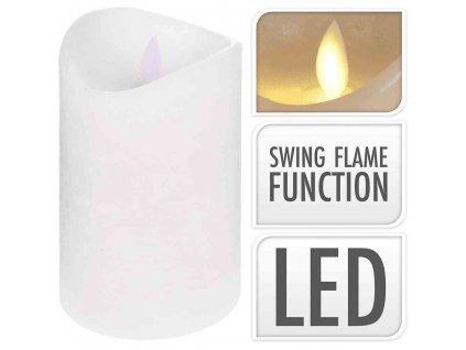 LED svíčka bílá 12,5 cm