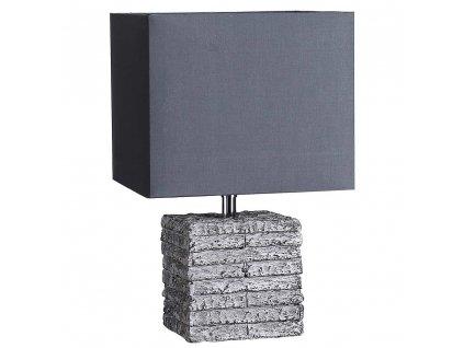 Stolní lampa šedá 35 cm