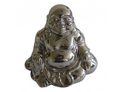 Stříbrná dekorace Buddha 14 cm