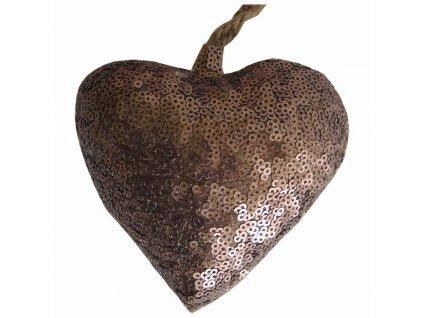 Závěsné srdce bronzové 10 cm