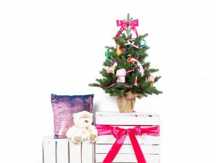 Vánoční stromek ozdobený 75 cm SLADKÝ POKLAD