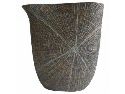 Polyresinová váza hnědá / zlatá 27 cm