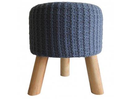Stolička pletená modrá 35 cm
