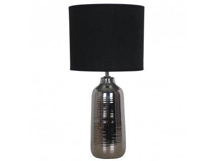 Stolní lampa stříbrná 46,5 cm
