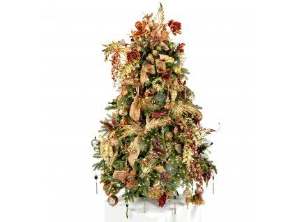 Vánoční stromek ozdobený ZÁMECKÝ SEN 180 cm