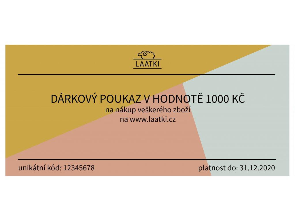 Darkovy poukaz VZOR 1000 Kc 2019