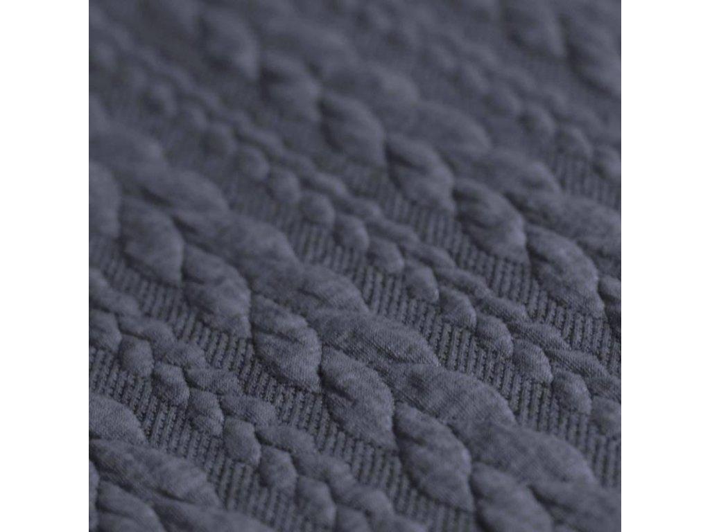 Cable Knit Jacquard Fabric jeans melange 800x800