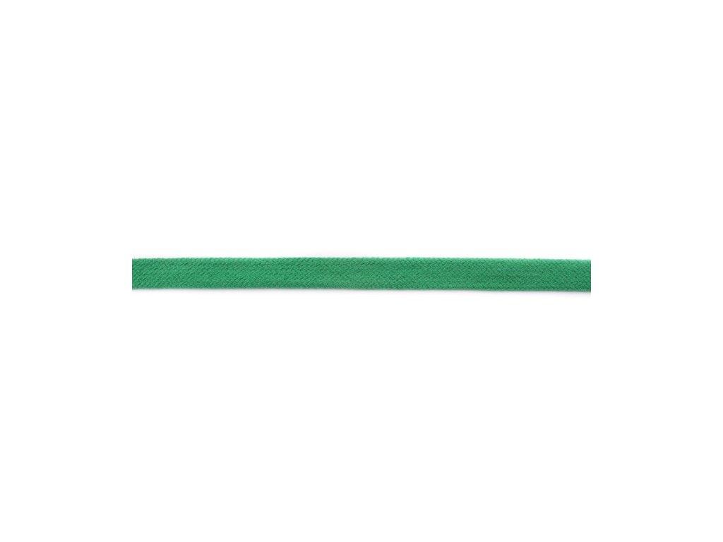 Šňůra plochá - 17mm - zelená jablko