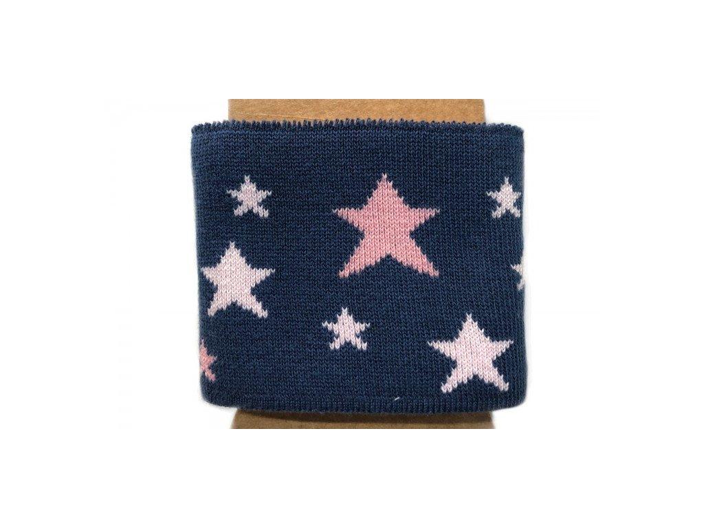 Náplet - kusový - hvězdy na džínově modré