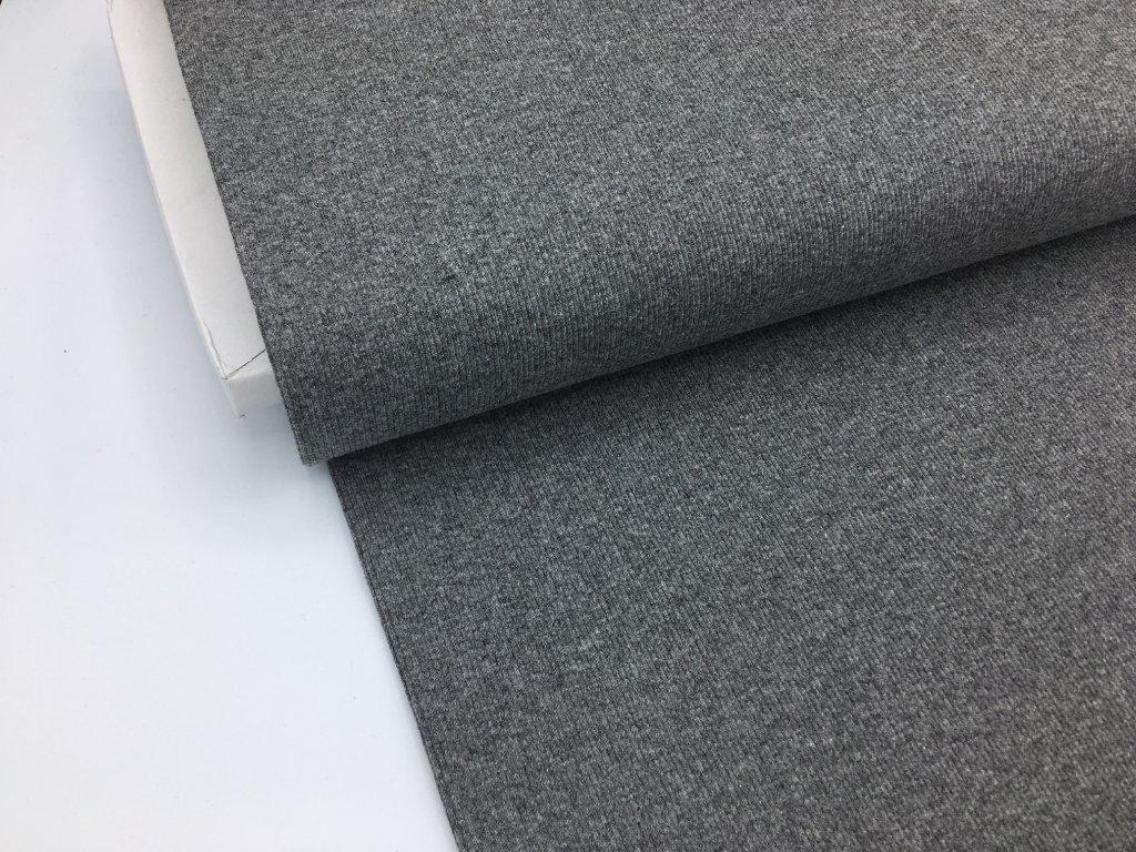 Náplet - žebrovaný - středně šedý melír