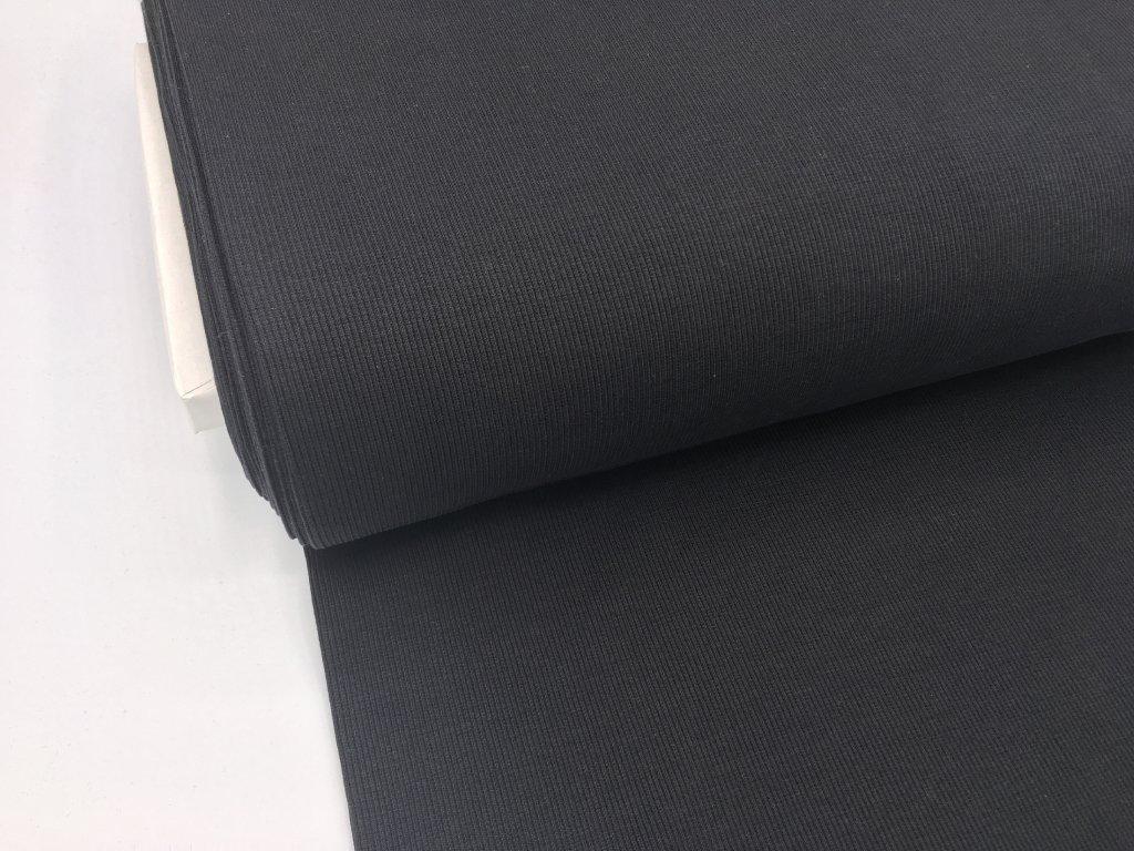 Náplet - žebrovaný - černý