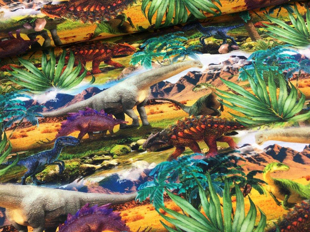 Úplet - dinosauři - digitální potisk