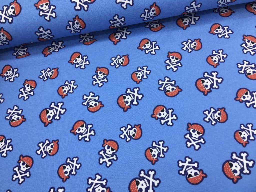 Úplet - pirátská lebka - modrá