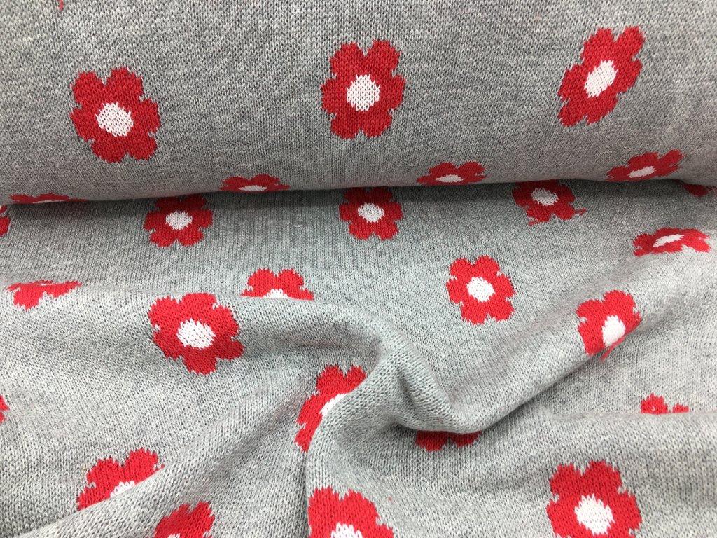 Svetrovina - šedá s kytičkou