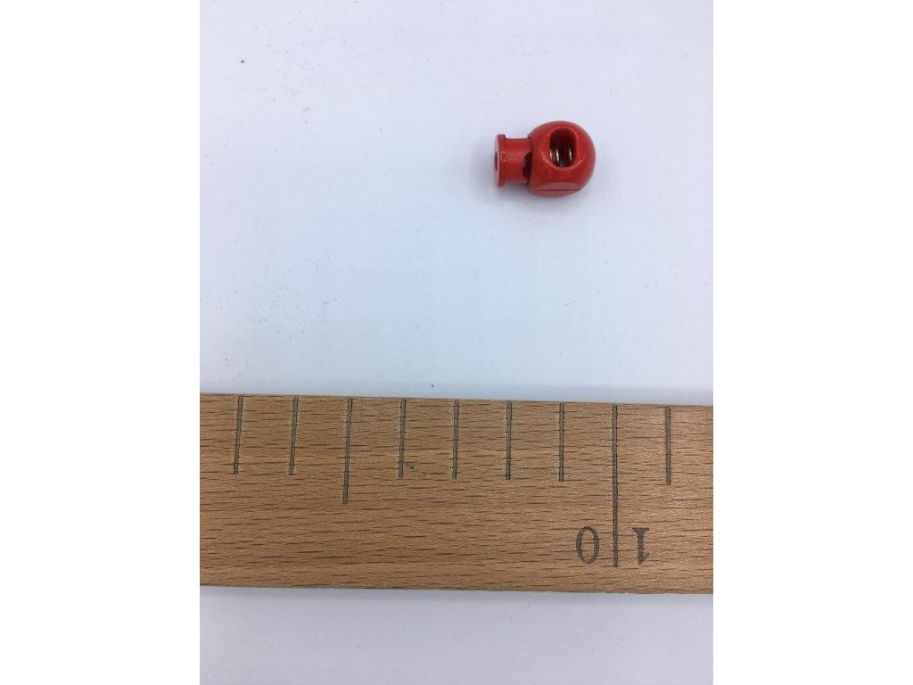 Plastová brzdička - délka 20mm - červená