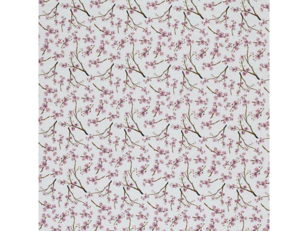 Jersey Fabric Digital blossom branch 1 800x800