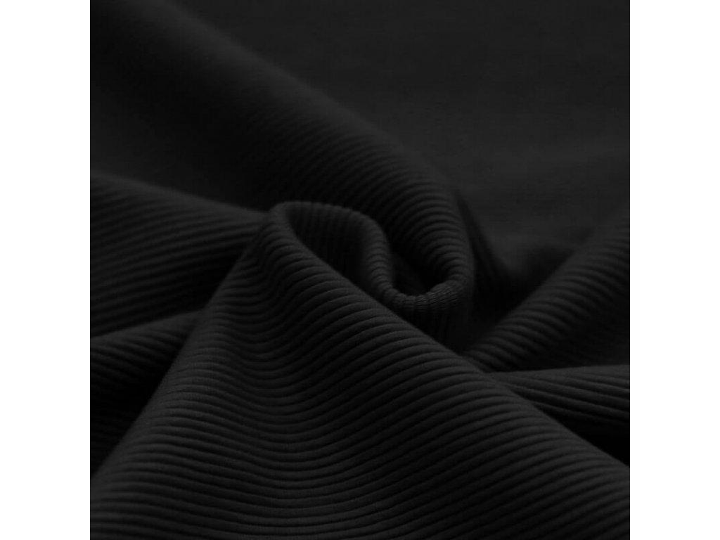 Ottoman Rib Jersey Fabric Black 1100x1100