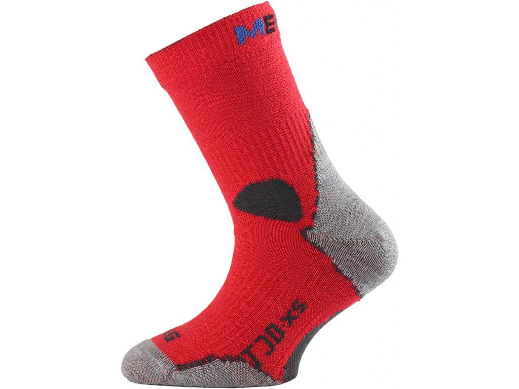 Dětské ponožky - trekingové - červená