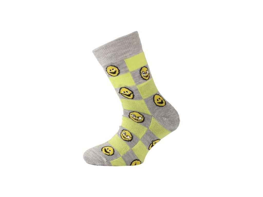 Dětské ponožky - trekingové - smajlíci žlutá