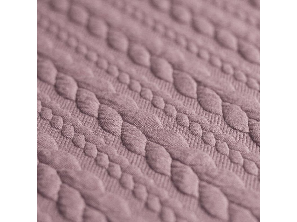 Cable Knit Jacquard Fabric old pink 800x800