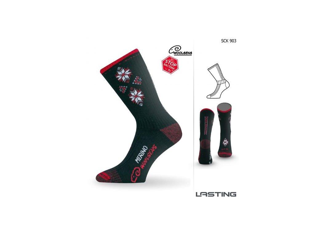 lasting merino lyzarske ponozky sck cerne