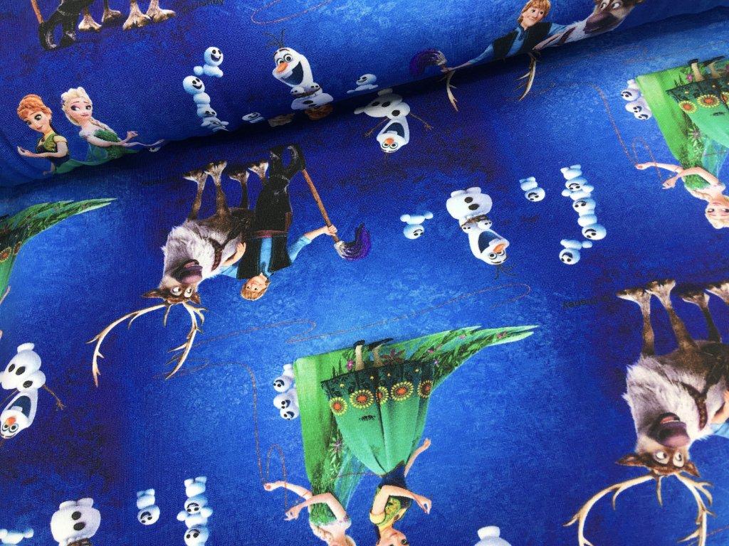 Úplet - Ledové království - královsky modrá - doprodej 51cm