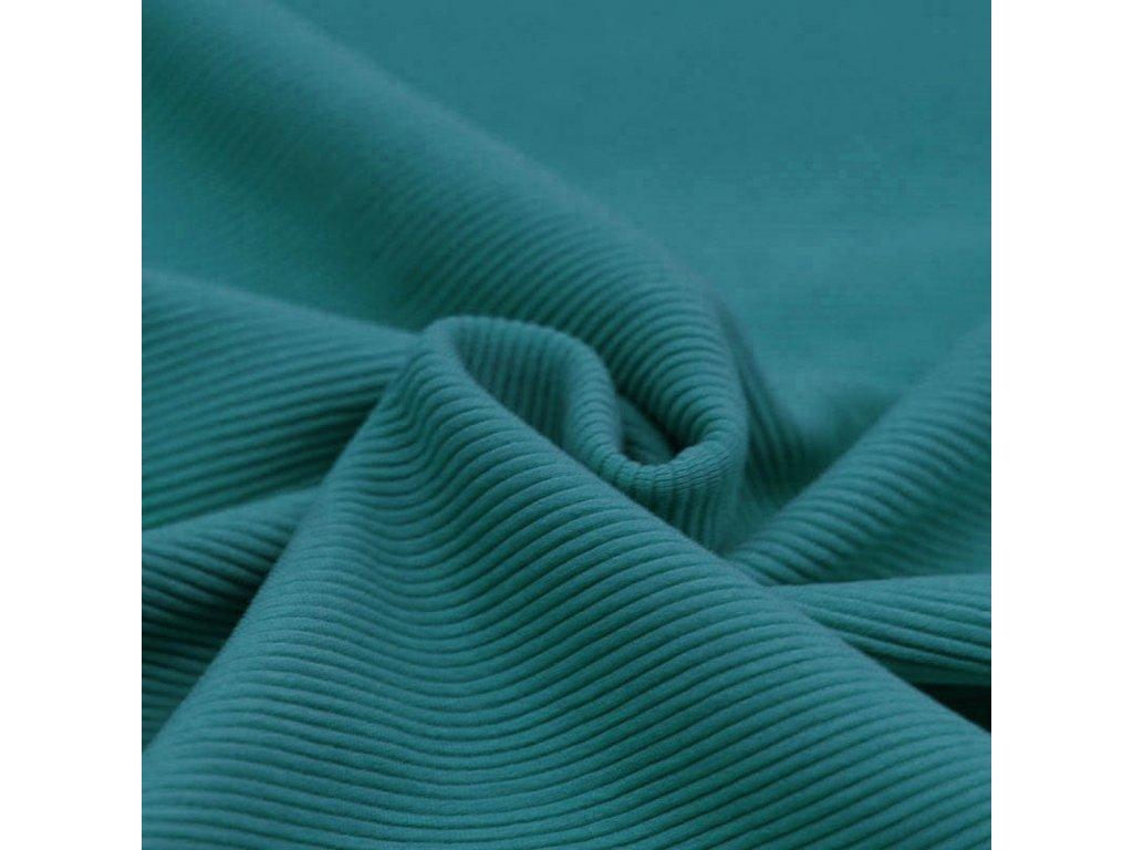 Ottoman Rib Jersey Fabric Petrol 1100x1100