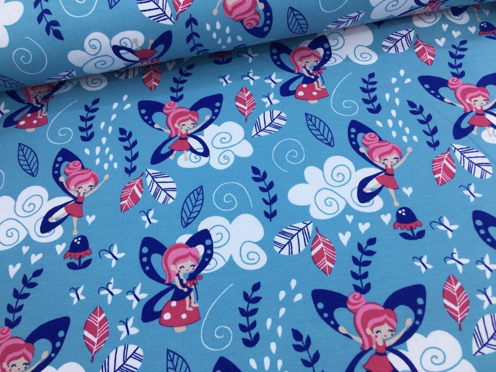 Úplet - víly - modro/růžové - 36cm (2.jakost)