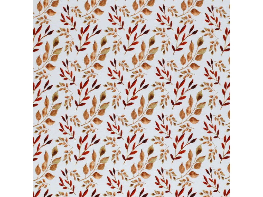 Jersey Fabric Leafs Brown 1 800x800