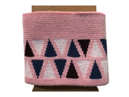 Náplet - kusový - trojúhelníčky na růžové