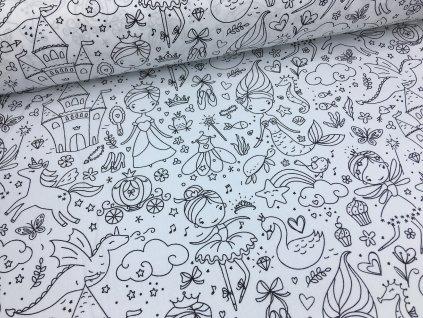 Bavlna - pohádky - vymalovávací