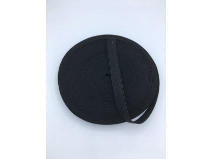 Pruženka dírkovaná 18mm - černá