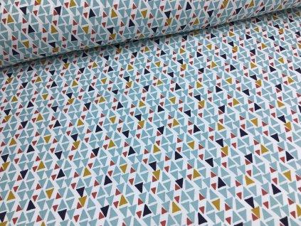 Bavlna - kolekce dino - trojúhelníky