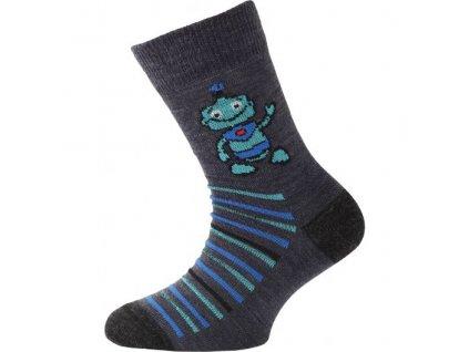 Dětské ponožky - trekingové - robot tmavě modrá